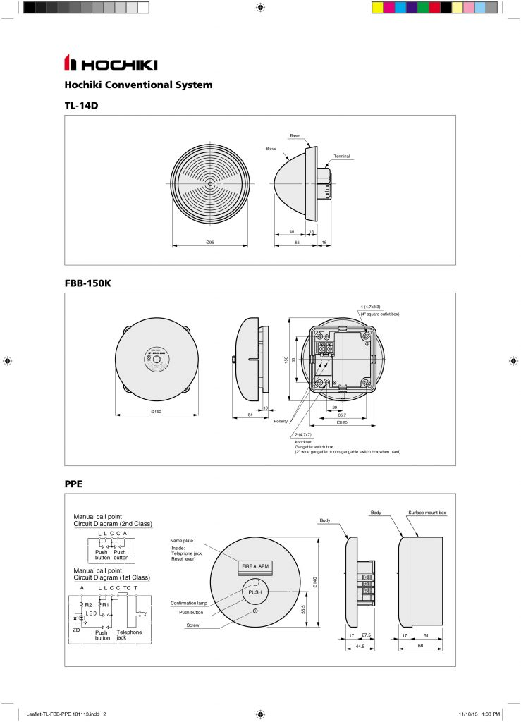 Catalogue Tl-14D, FBB-150K, PPE-1-2